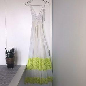 Zara Off-White Maxi dress